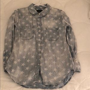 Rails star chambray button down
